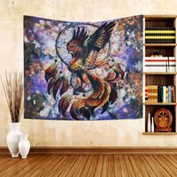 Wholesale large tapestry for sale - Group buy Large Phoenix Printed Tapestry Wall Hanging Bohemian Beach Towel Polyester Thin Blanket Yoga Shawl Mat x130cm Blanket