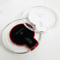 Wholesale wireless induction - QI Wireless Charger Magnetic Induction Mobile Phone Fast Charging Round Pad Illuminate for Iphone X  8  Samsung