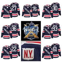 Wholesale Winter Xl - 2018 Winter Classic New York Rangers Jerseys Hockey 36 Mats Zuccarello 27 Ryan McDonagh 30 Henrik Lundqvist Kevin Shattenkirk Brady Skjei