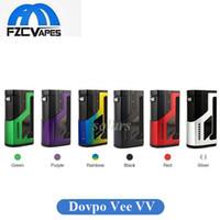 Wholesale e cigarette mod vv - Authentic Dovpo Vee VV Box Mod 1.0V-8.0V Output E Cigarette Vape Mod 1vp.me Project 100% Original