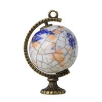 Wholesale bronze 25mm pendants for sale - Group buy DoreenBeads Ceramics Charm Pendants Globe Antique Bronze Multicolor mm x mm new