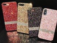 elmas taş bling cep telefonu durumlarda toptan satış-Cep Telefonu kılıfı Premium bling Lüks Elmas Rhinestone Glitter Telefon Kılıfı Için iPhone XR XS MAX X 8 7Samsung Not 9