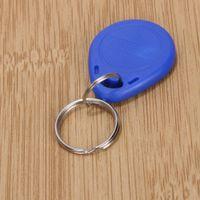 tarjeta de proximidad blanca al por mayor-10 unids Rewritable Rewrite Magnético ABS Inducción ID RFID Tag Key Ring Card Tarjeta de Control de Acceso RFID