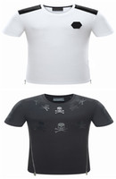 Wholesale shirts men washing - Men Luxury Tshirt Fashion Men Crew Neck Short Sleeve T Shirts Brand Summer Cotton Tops Tees Skulls Print T-Shirt Medusa Casual Slim Tees