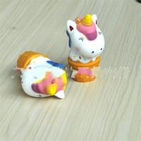 kawaii eiscreme squishy großhandel-Einhorn Squishy Ice Cream Cone Squishies Simulation Langsam Rebound Bunte steigende Jumbo Kawaii Squeeze Telefon Charme Essen 13bb V