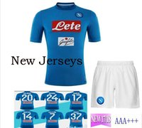 Wholesale Ripped Shorts For Men - New 17 18 Serie A home suit soccer Napoli blue football jerseys for men CALLEJON MERTENS HAMSIK L.INSIGNE PLAYER Shirt polyester ribbon