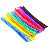Wholesale chenille pipe for sale - Group buy DIY Flower Accessories Kids Educational Toy Handmade Craft Chenille Stems Pipe Cleaners Multi Color Hot Sale zc C