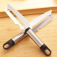 Wholesale Multifunction Peeler - Stainless Steel Fruits And Vegetables Peeling Device Multifunction Bottle Opener Paring Knife Useful Kitchen Tools New Arrival 0 7yd Z