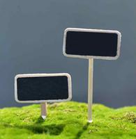 ingrosso etichette vegetali diy-Moss Micro Landscape Ornaments Mini lavagna in legno Etichetta creativa fai da te Fleshy Plant Pot Decorazione bonsai Piccoli accessori da giardino fatato