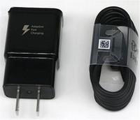 usb carregador cabo reino unido venda por atacado-Carregador rápido Carregamento Rápido Adaptador de Carregador de Parede USB + Rápido 1.2 M S8 Tipo-C Cabo USB UE EUA REINO UNIDO adaptador de viagem Para Samsung S8 S8 Além disso