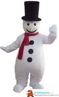 Wholesale costume for year boy resale online - Funny Cartoon Character Cute Snowman boy mascot costume Lovely mascot costumes for party custom new year christmas mascots at arismascots