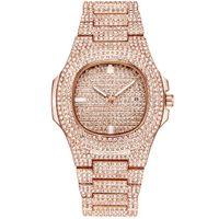 сверкающие часы оптовых-Brand watch fashionable steel band diamond quartz watch sparkling distinguished fashion casual watch the new hot sell