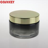 ko großhandel-Große Größe auf Lager Glas Cremetiegel oder Augencreme für Kosmetikverpackungen 200ml
