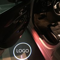 Discount door shadow logo benz - 2pcs Car Door Led Welcome Laser Projector Logo Shadow Light Door Step Logo Lamp For New Benz S W222 Courtesy Lamp For MABACH S