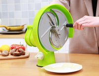 Wholesale apple potato slicer for sale - Group buy multi function manual vegetable fruit slicer household lemon apple ginger slicer machine kitchen cucumber potato pineapple slicer LLFA