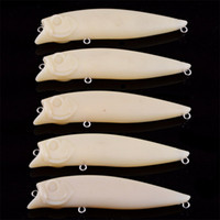 Wholesale hard lure bodies - Embryoid Blank Fish Bait Body Unpainted DIY No Hook Hard Fake Lures Pure Color Self Painting Plastic Baits 1 3ay bZ