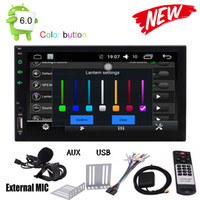 Wholesale sat nav stereo online - Android Marshmallow HD Digital Touch Screen Car Stereo Double Din Quad core Multimedia Player GPS Navigation GPS Sat Nav Bluetooth