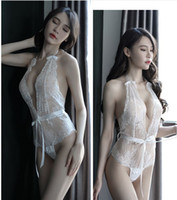 lingerie sexy sexy sexy achat en gros de-Vente chaude taille libre Femmes Sexy Lingeries One Piece Babydoll évider Deep V Neck Lace Outfits # S11