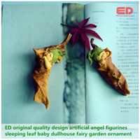 Wholesale Everyday Collection Artificial Angel Figurines christmas Decoration Leaf Baby Dullhouse Fairy Garden Landscape Ornament Set