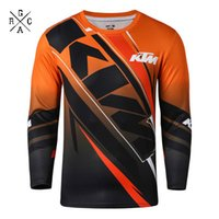 Wholesale dh mtb - MTB Off Road Cycling Jersey Mountain Bike DH Bike Jersey FOR KTM Motocross Jersey Breathable Light Quick Dry Bicycle Cloth