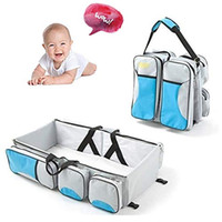 Wholesale play yard baby resale online - Premium in Multi Functional Travel Diaper Bag Portable Bassinet Changing Pad Station Essential For Mom Perfect Baby Shower Gift