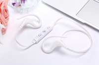 Wholesale noise cancelling mp3 player online - 2018 Bluetooth Headphones Sport Wireless Headset Hook Stereo Music Player Neckband Earphones Jogging Headphones With Retail Box