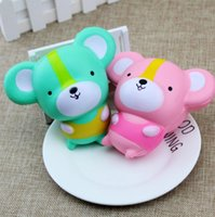 Wholesale Toy Rats Wholesale - Squishy Green Pink Mouse Kawaii Slow Rising Toys Mice New Decoration Animals Perfume Squishies Relaxation Cute Rat Anti Stress Freeshipping