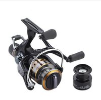 Wholesale drag reels - Fishing Reel Carp Spinning Reel Carbon Front and Rear Drags 18KG Max Drag 9+1 BB Metal Spool Sea Boat Reel Double Knobs