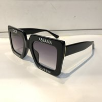 Wholesale Wrapping Design - Luxury 4328 Sunglasses For Women Popular Square Letters Frame Design Avant-garde Frame Built-In Circular Lens Top Quality Come With Case
