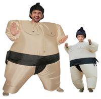 aufblasbare anzug kinder großhandel-Sumo Aufblasbare Kostüm Halloween Kostüme Für Frauen Kinder Karneval Weihnachtsfest Kleid Outfits Fat Man Anzüge Wrestler Maskottchen WSJ-33