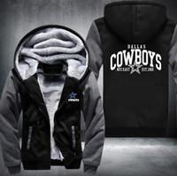 hoodies kadın xxxl toptan satış-2018 Sıcak Moda Dallas Kış Sonbahar Kadın erkek Hoodies Cowboys Fermuar Ceket Rahat Tişörtü Ceket Kaşmir Hoodie Kalınlaştırmak