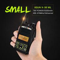 rádios de fiambre hf venda por atacado-Conjunto de Rádio portátil KSUN X-30TFSI Mini Walkie Talkie UHF Handheld Em Dois Sentidos Ham Radio Communicator HF Transceptor Amador Handy