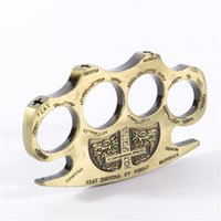 Wholesale knuckle dusters self defense - New Strong Alloy Brass knuckle dusters Self Defense Personal Security Women s and Men s self defense Pendant Powerful safety equipment