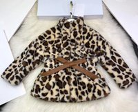 Wholesale Leopard Print Girls coat winter Fashion warm clothes velvet fabric soft and comfortable outerwear