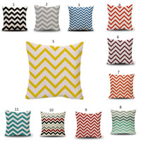 Wholesale linen pillow stripe resale online - 45x45cm Flax pillow case Home Sofa Striped Wave Pillow Case Digital Printing Flax Pillow Cover Cushion Cover outdoor cushions MMA339