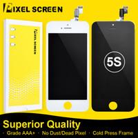 iphone 5g de la pantalla táctil del reemplazo al por mayor-Mejor Grado +++ Calidad LCD para iPhone 5 5G 5C 5S Pantalla Asamblea de reemplazo con digitalizador de pantalla táctil Envío de DHL gratis