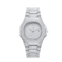 las mujeres miran el precio barato al por mayor-Precio barato al por mayor Full Shinning Piedra Hombres Mujeres Reloj de pulsera 41mm Tamaño Movimiento de cuarzo Marca de Lujo Reloj Joyería