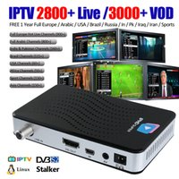 Wholesale Iptv Box Channels - IPTV smart tv box with 1 Year IPTV Service 2800+ channels built-in Stalker 4K streaming media player Linux OS
