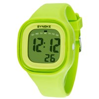 Wholesale bright digital watches for sale - Group buy 1PC Fashion Boys Girls Clock Bright Color Silicone Band Waterproof Watch LED Light Digital Sport Wrist Watches Creative July06