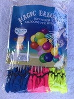 Wholesale balloons play - Water-filled Balloon Outdoor Amazing Magic Water Balloon games Bomb Child Toy Child Summer Beach Sprinkler Play Vent toys 1pc = 111