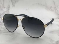 Wholesale women s eye glasses frames - Cool Mens 2887 S Black Leather Oversized Aviator Sunglasses Sonnenbrille Eyewear Occhiali da sole Outdoor Summer Glasses New with box