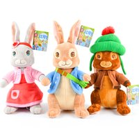 """Wholesale peters rabbit - Hot ! Wholesale New 3 Style Peter Rabbit Plush Doll Stuffed Animals Toy For Gifts 11.5"""" 30cm"""