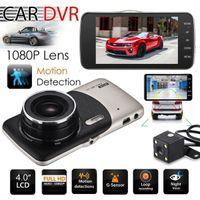 çizgi kameralar hd çift lens toptan satış-2018 Çift Lens Kamera HD Araba DVR Dash kamera Video Kaydedici G-Sensor Gece Görüş 3 Yıl Garanti 24 H Sevk 30 Gün Para Geri
