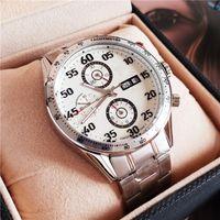 medidor de japão venda por atacado-luxo limitada ediction relógio mecânico japão cronógrafo cinta de aço senna mens relógios de pulso 100 metros frete grátis