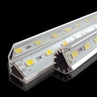 12 volt led streifen weiß großhandel-SMD 5730 führte Stablicht 12 Volt geführtes Licht 36LEDs / 0.5M 72LEDs / 1M 144LEDs / 2M geführter harter Streifen mit V-förmigem Aluminiumkanal warm / kalt / reinweiß