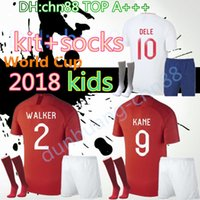 Wholesale kids walkers - 2018 World Cup soccer jerseys kids kit+socks KANE ROONEY RASHFORD WALKER DIER VARDY LINGARD Children BOYS JERSEY DELE Football shirt