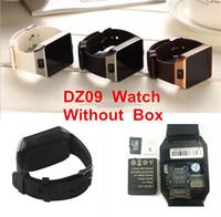 kamera kadranları toptan satış-DZ09 apple android İzle için smart watch Q18 GT08 iPhone Samsung akıllı telefon ile smartwatch kamera dial çağrı cevap Pasometre Yok KUTUSU