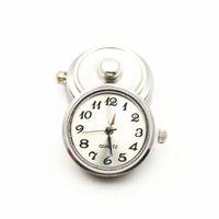 weiße metallarmbänder großhandel-Heißer Verkauf 6 teile / los Metall Weiß Farbe Glas Uhr Druckknöpfe Charms Fit 18mm / 20mm DIY Snap BraceletBangle Halskette DIY Schmuck