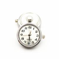 Wholesale charm watches sale - Hot Sale 6pcs lot Metal White Color Glass Watch Snap Buttons Charms Fit 18mm 20mm DIY Snap Bracelet&Bangle Necklace DIY Jewelry