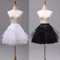 Wholesale ball gown petticoats for sale resale online - Top Sale White or Black Short Petticoats Women Underskirt For Wedding Dress jupon cerceau mariage